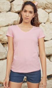 Produktfoto Fruit of the Loom Fit Valueweight Damen Kurzarm T-Shirt mit V Ausschnitt