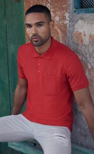 Produktfoto Fruit of the Loom 65/35 Herren Poloshirt mit Brusttasche bis 3XL (60 Grad)