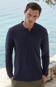 Produktfoto Fruit of the Loom Premium Herren Langarm Poloshirt bis 3XL